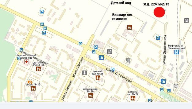 карта города нефтекамска с