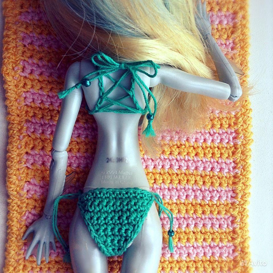 Как сделать купальник на куклу монстер хай
