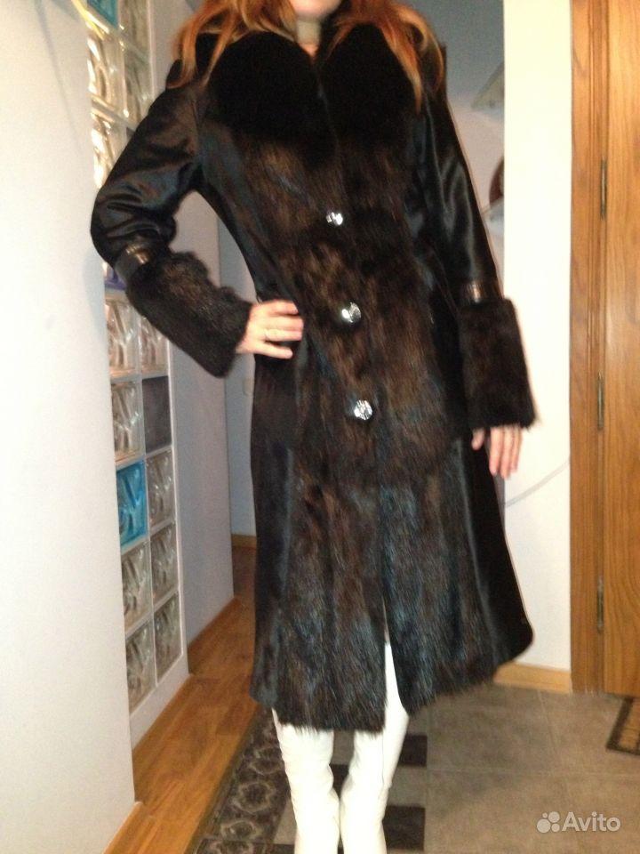 267750b29fa Объявление о продаже Пальто(шуба) из котика+ песец в Москве на Avito.