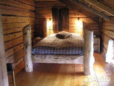 Кровать из брёвен своими руками фото 82