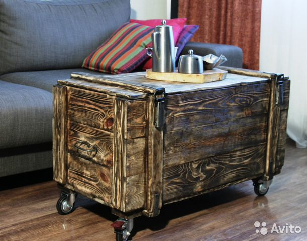 INDUSTRIAL STYLE CART with vintage storage bin  YouTube