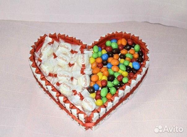 Сердце торт из киндеров