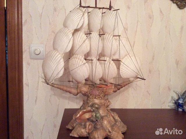 Поделки кораблики из ракушек 24