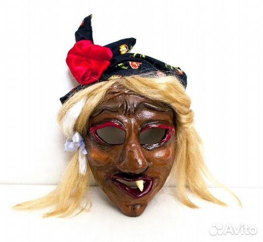Карнавальная маска бабы яги