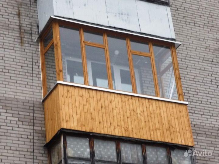 Остекление, отделка балконов и лоджий.