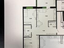 3-к квартира, 77 м², 10/12 эт. — Квартиры в Тюмени