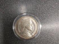 Монета Латвия 5 лат 1929 г серебро