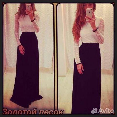 Платье белый верх черный низ и другие темные оттенки