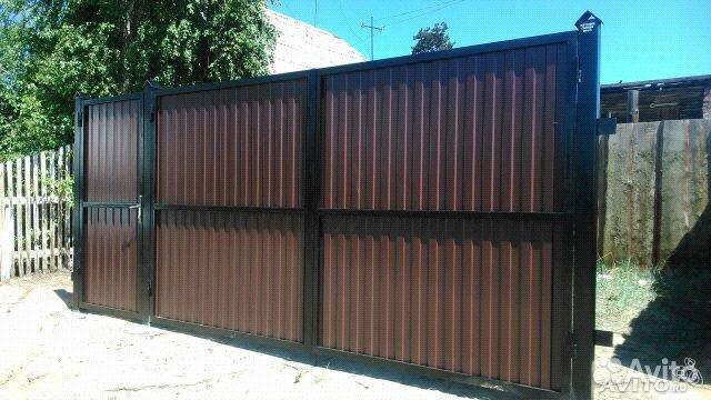 фото ворота и забор