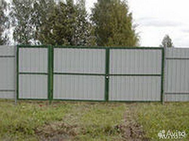 Ворота из профнастила г тара откатные ворота производство в екатеринбурге