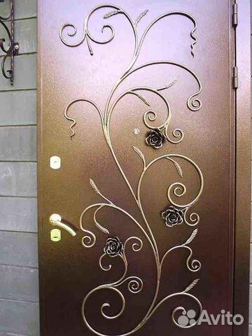металлические двери с коваными элементами новинки