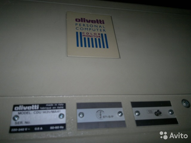 "Olivetti cdu 1431/ma41 1431 14"" Made in Italy— фотография №1"