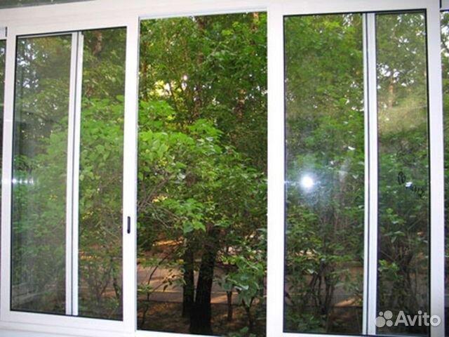 Окна из профиля проведал на лоджию 3,35x1,4 в москве по цене.