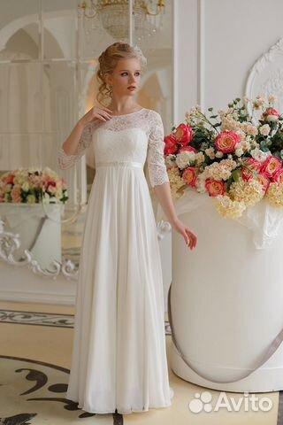 617d0e66f52 Свадебное платье новое непышное