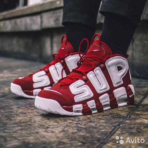 a9075d1e Nike Air More Uptempo x Supreme Red (Все Размеры) купить в Санкт ...