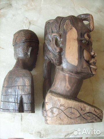 Две статуэтки. Черное дерево. Африка 70 - е года 89087998445 купить 3