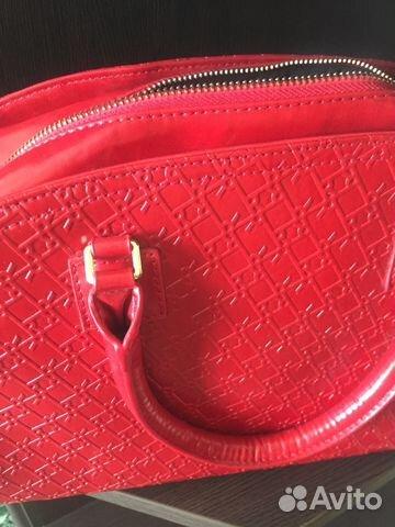 d996cc14ed2e Красная кожаная сумка купить в Москве на Avito — Объявления на сайте ...
