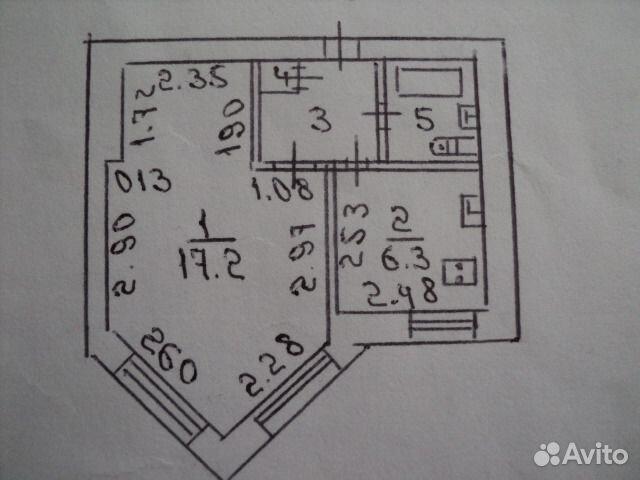 Продается однокомнатная квартира за 1 270 000 рублей. г Воронеж, ул Остужева, д 36.