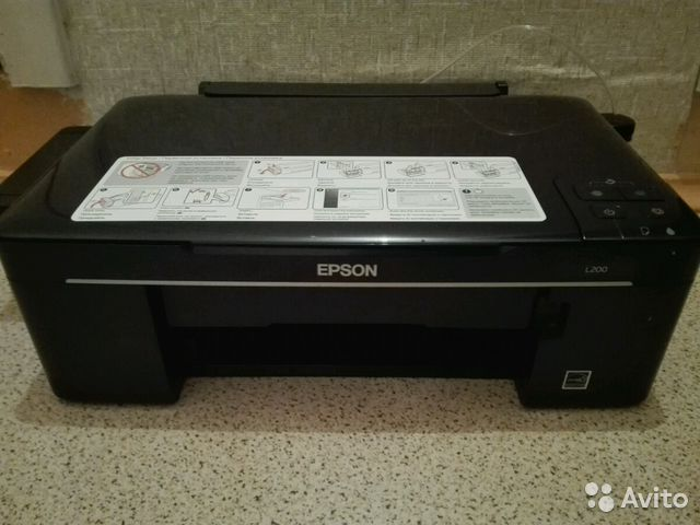 Epson l200 прочистка