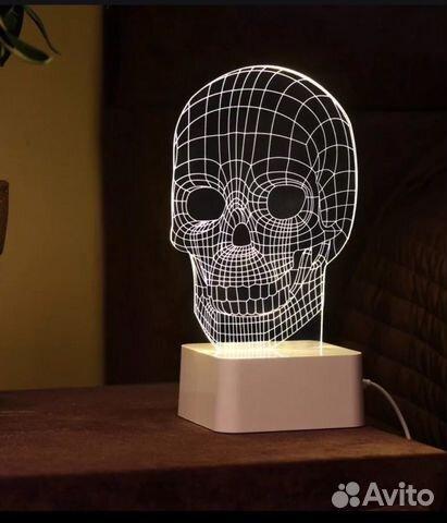 3d лампа светильник череп Festimaru мониторинг объявлений