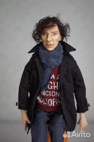 Авторская кукла Шерлок(Бенедикт Камбербэтч) 89236371813 купить 1