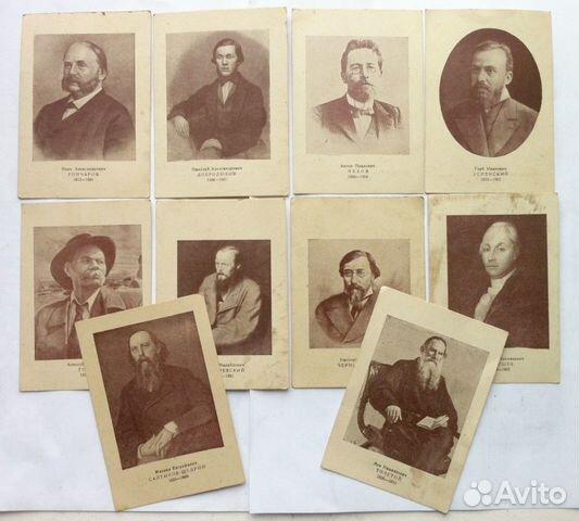 набор открыток с портретами русских писателей ремонт квартире