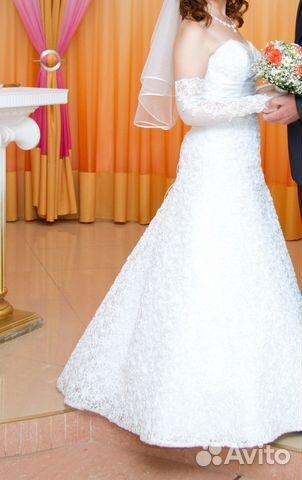 Свадебное платье размер 44 89525543855 купить 1