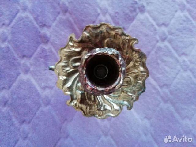 Подсвечник Цветок бронза h-23 см  89125722931 купить 4