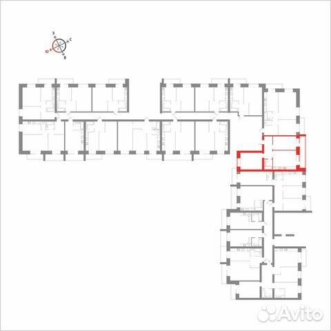 2-к квартира, 71.8 м², 8/14 эт. 89115506177 купить 4