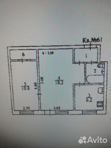 2-к квартира, 42.8 м², 4/5 эт.