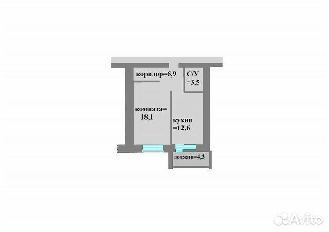 1-к квартира, 41.8 м², 2/12 эт. 89065056282 купить 2