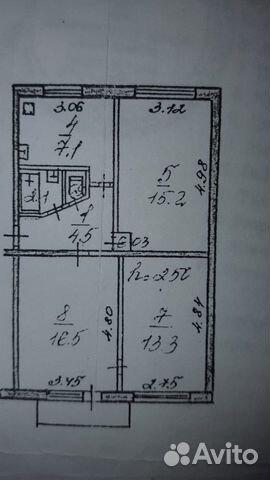 3-room apartment, 60 m2, 5/5 floor. buy 1