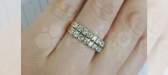 Золотое кольцо с бриллиантами (1.26 карат) купить в Москве на Avito —  Объявления на сайте Авито faf9411b518