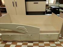 Кровать детская Дельфин ваниль