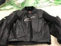 Куртка Alpinestars оригинальная кожаная и ботинки