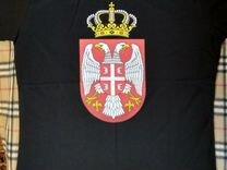 """Футболка Сербии """"Сербский герб с короной"""" — Одежда, обувь, аксессуары в Москве"""