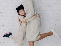 Вязаный костюм family look