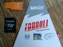 Карта памяти 32 Гб mixza +Адаптер +USB переходник
