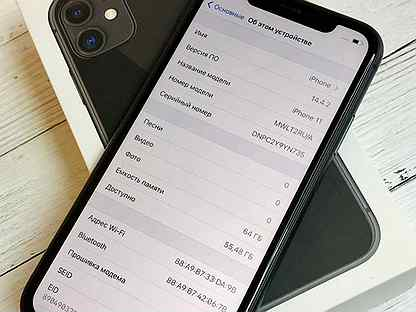 iPhone 11 64GB Black / Ростест / Оригинал