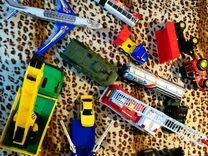Набор из 9 больших машин, большого самолета и мото