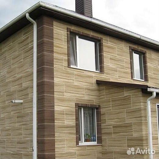 Отделка фасада домов из гибкого камня  89236857665 купить 6