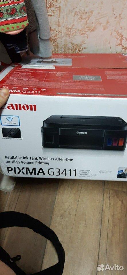 Принтер с wi-fi, снпч заводским, сканером